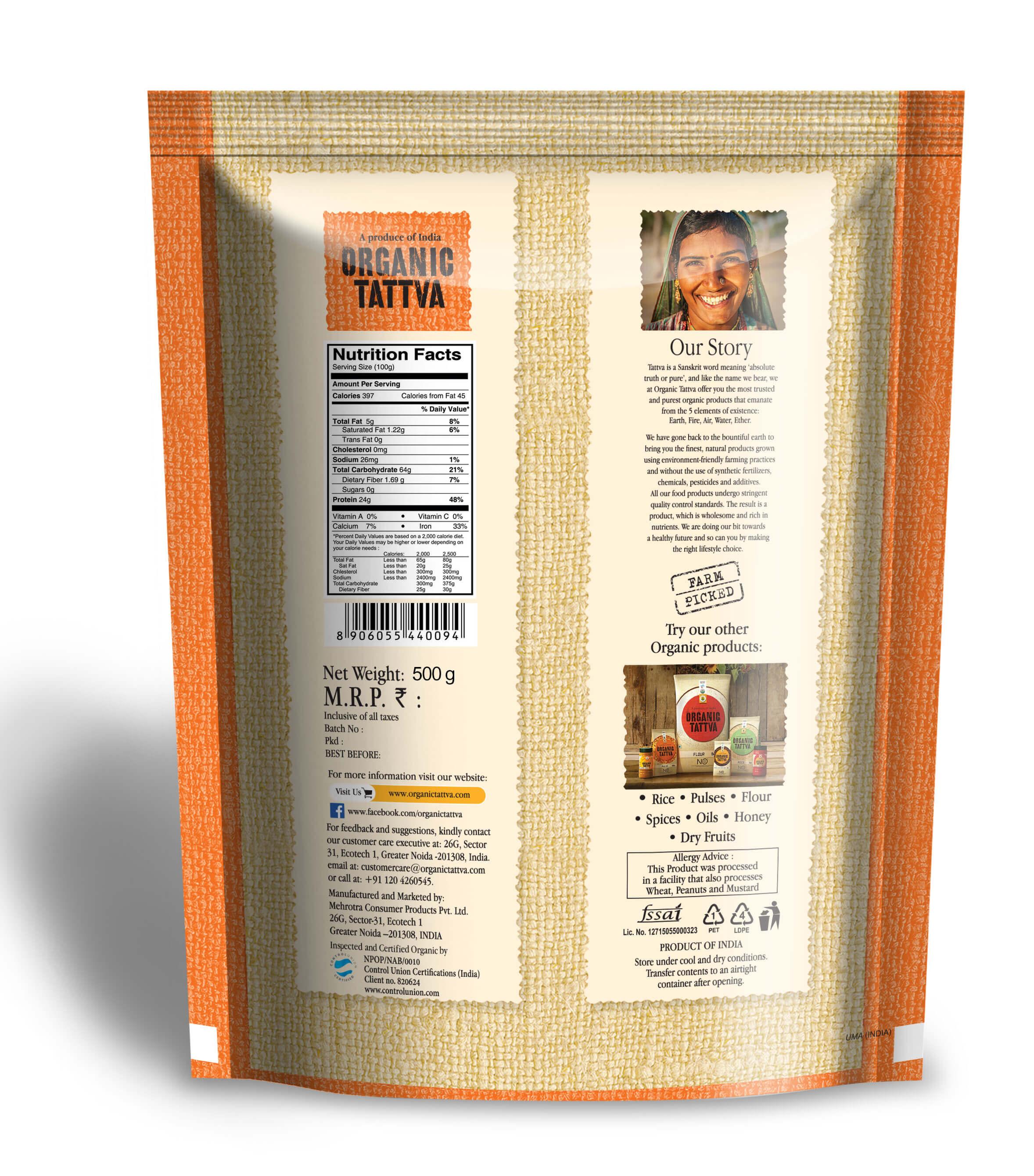 Organic Chickpeas - Buy Organic Kabuli Chana Online (500 gm