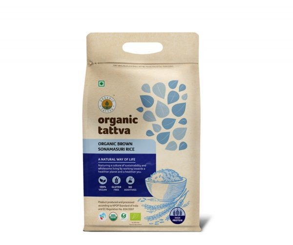Organic Sonamasuri Brown Rice (5kg)