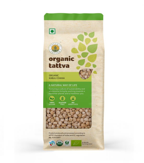 Organic Kabuli Chana (500gm)