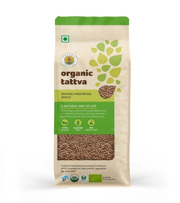 Organic Masoor Malka Whole (500gm)