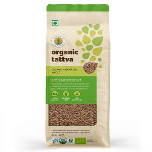 Organic Masoor Dal Whole (500gm)