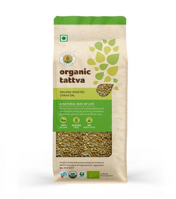 Organic Roasted Chana Dal (500gm)