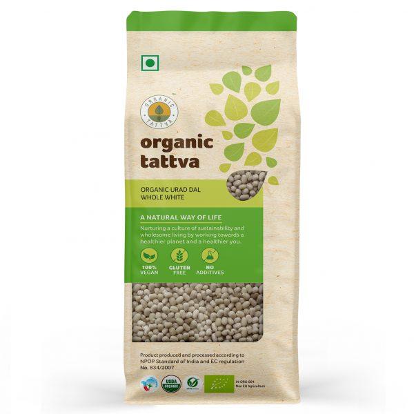 Organic Urad Dal Whole White (500gm)