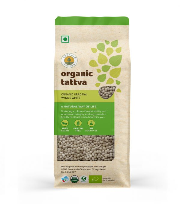 Organic Urad Dal Whole White (500gm)
