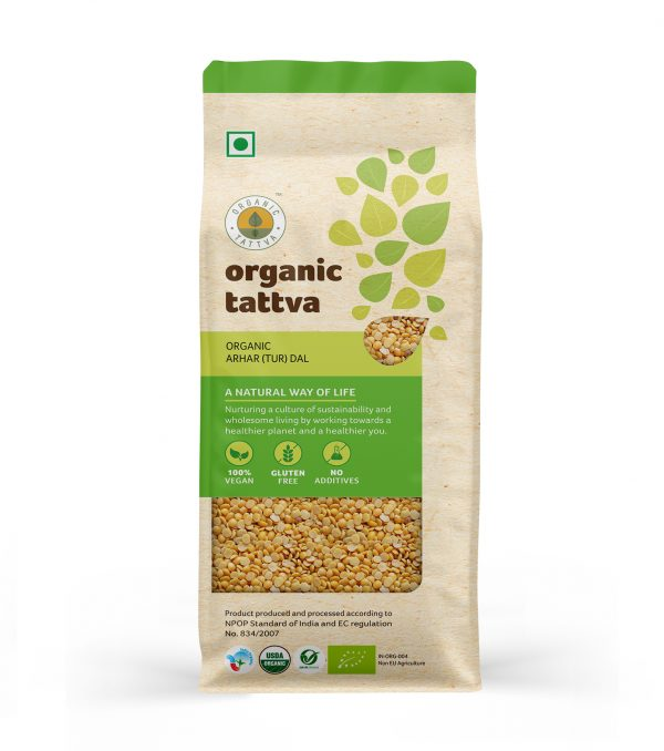 Organic Arhar (Tur) Dal (1kg)