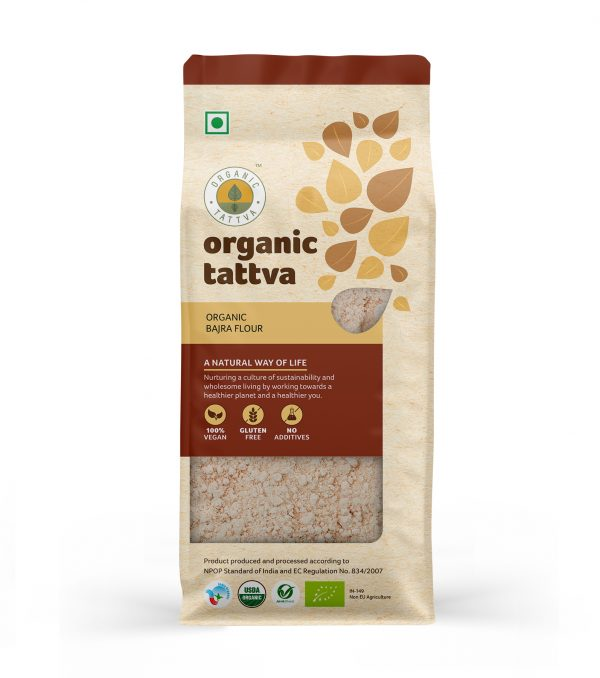 Organic Bajra Flour (500gm)