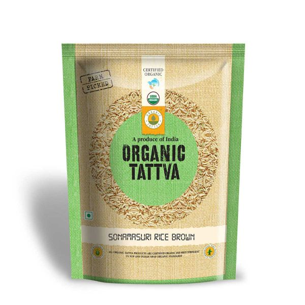 Organic Brown Sonamasuri Rice 1kg
