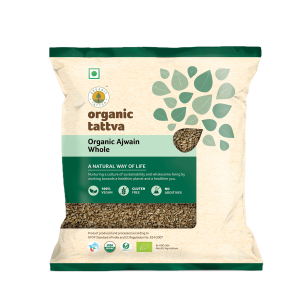 Whole Spices 100gm_Organic Ajwain Whole_FOP