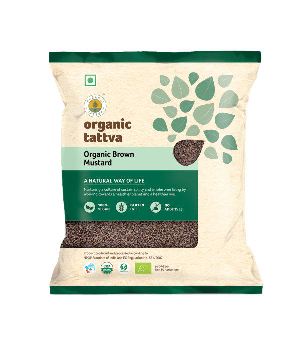 Organic Brown Mustard (Rai) (200gm)