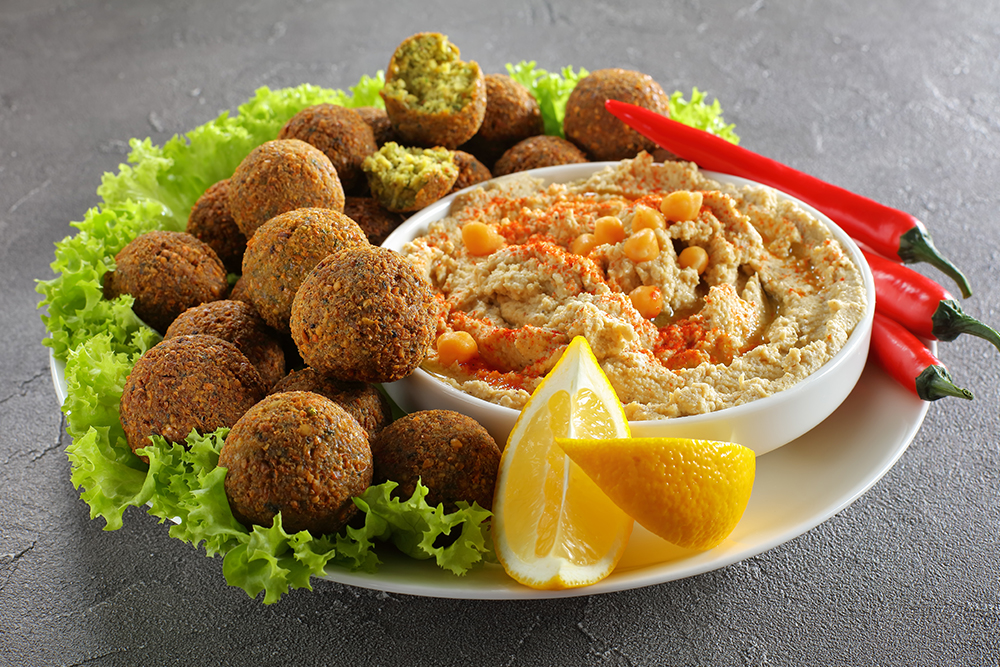 Falafel with Hummus Recipe - Organic Tattva