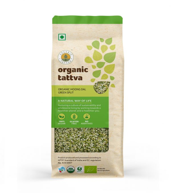 Organic Moong Dal Green Split (500gm)
