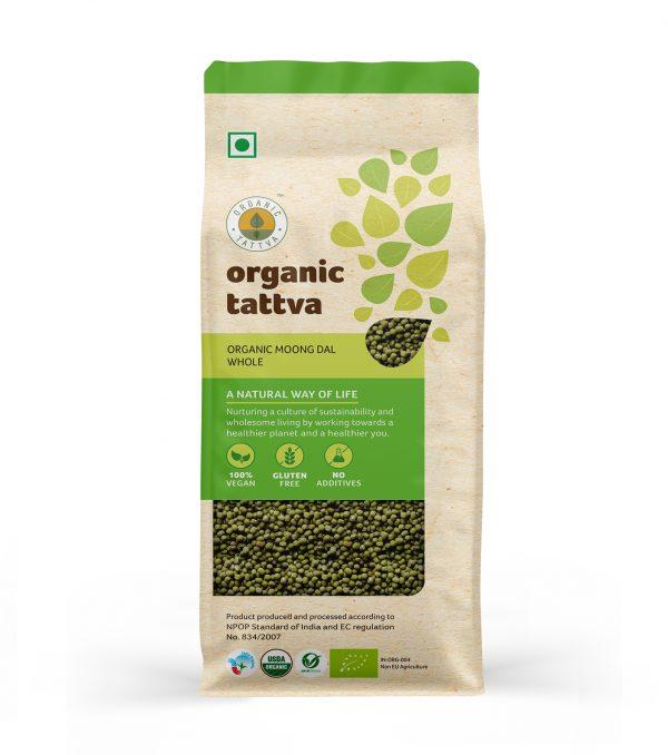 Organic Moong Dal Whole (500gm)