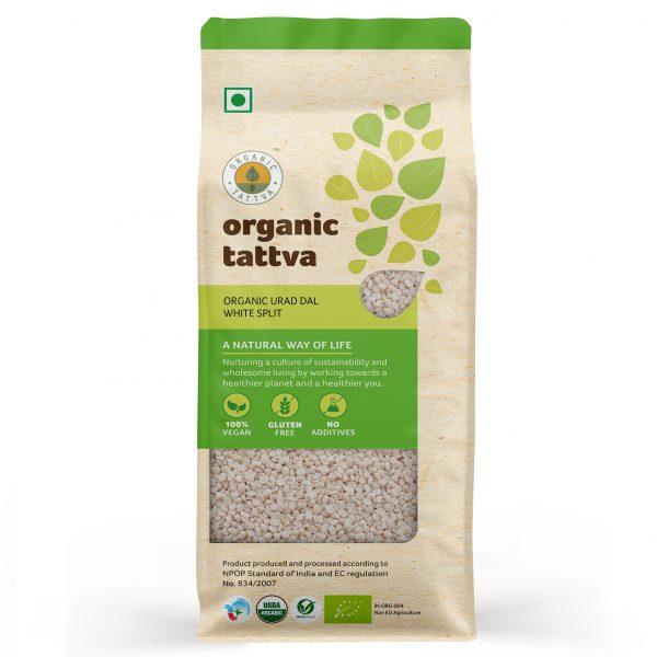 Organic Urad Dal White Split (500gm)