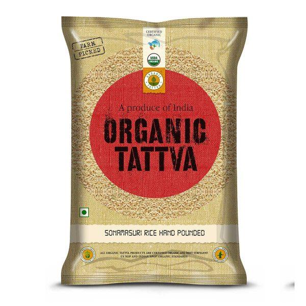 Organic Sonamasuri Rice Hand Pounded 5kg