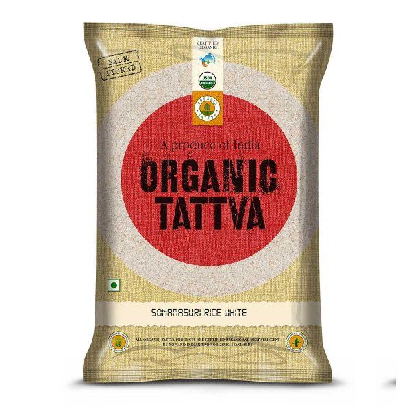 Organic White Sonamasuri Rice Polished 5kg