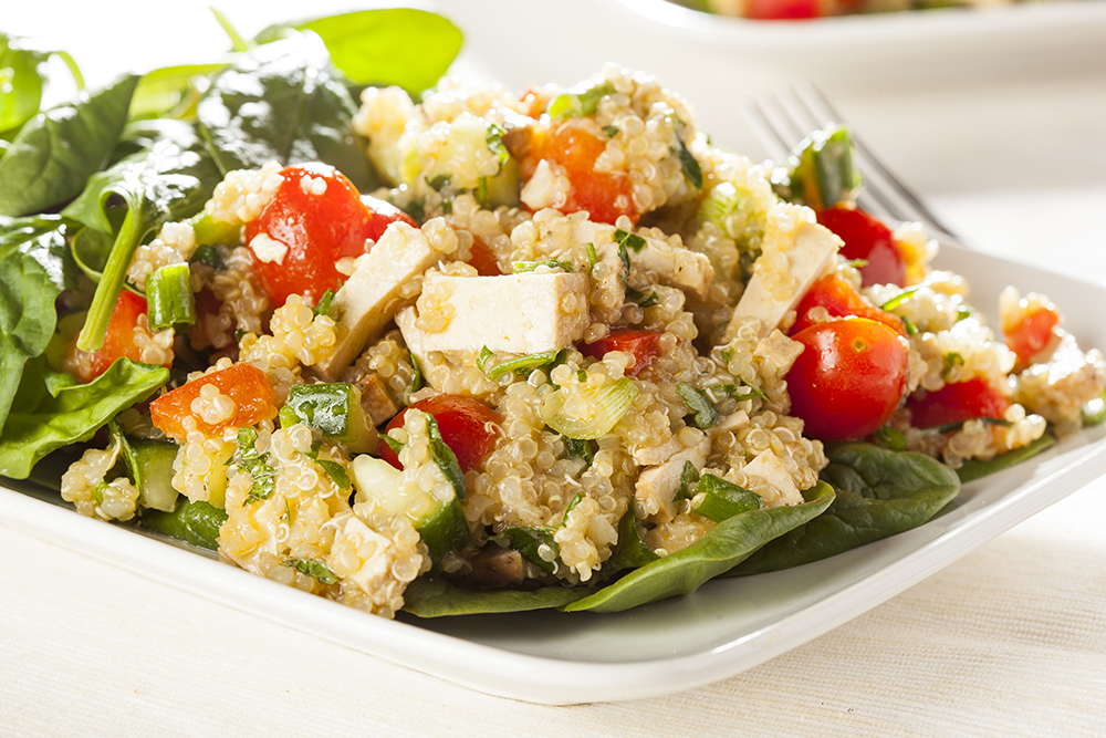 Quinoa and Tofu Salad Recipe by Organic Tattva