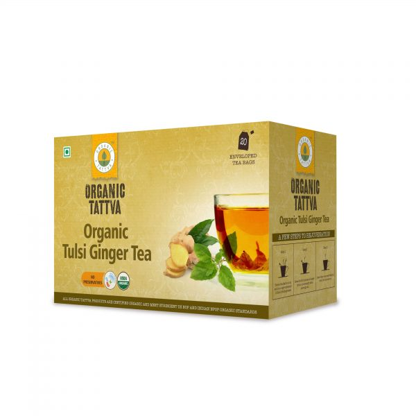 Organic Tulsi Ginger Green Tea