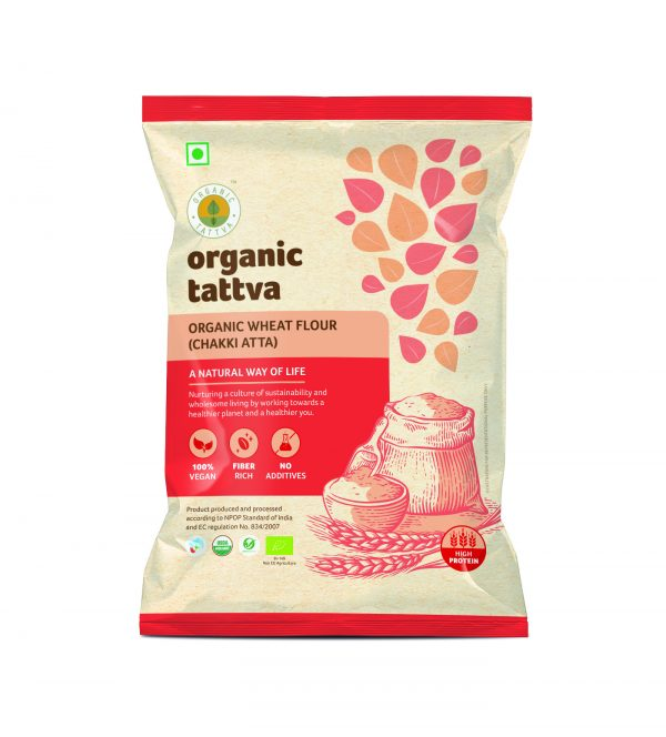 Organic Whole Wheat Flour (Chakki Atta) (1kg)