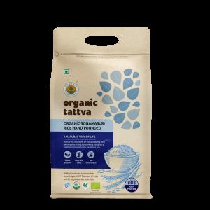 Organic Sonamasuri Rice Hand Pounded (5kg)