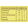 Masala-Blends-100gm_Organic-Rasam-Powder_Nutrition-Table