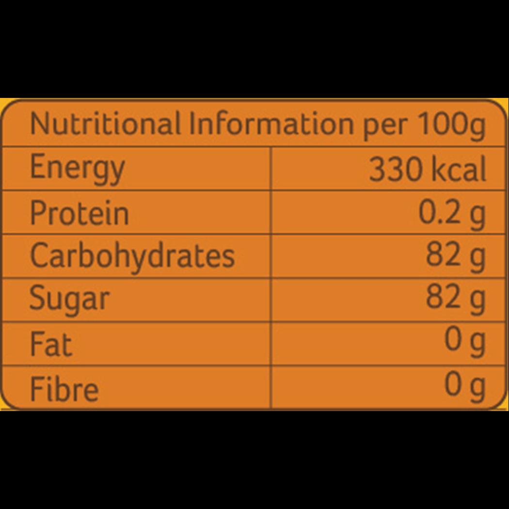 Organic Wild Honey 100gm_Nutrition Table